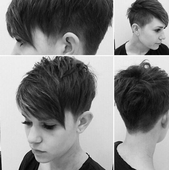 60 Cool Short Hairstyles & New Short Hair Trends! Women Haircuts 2017 With Well Known Pixie Haircuts With Shaved Sides (View 5 of 20)
