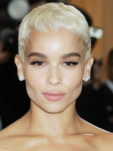 9 Zoe Kravitz Hairstyles (long, Braided & Pixie Haircut) Page 1 Of 1 Regarding Well Liked Pixie Haircuts For Square Face (View 11 of 20)