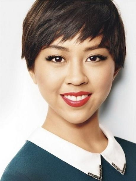Asian Hair For Most Popular Pixie Haircuts For Asian Round Face (View 5 of 20)