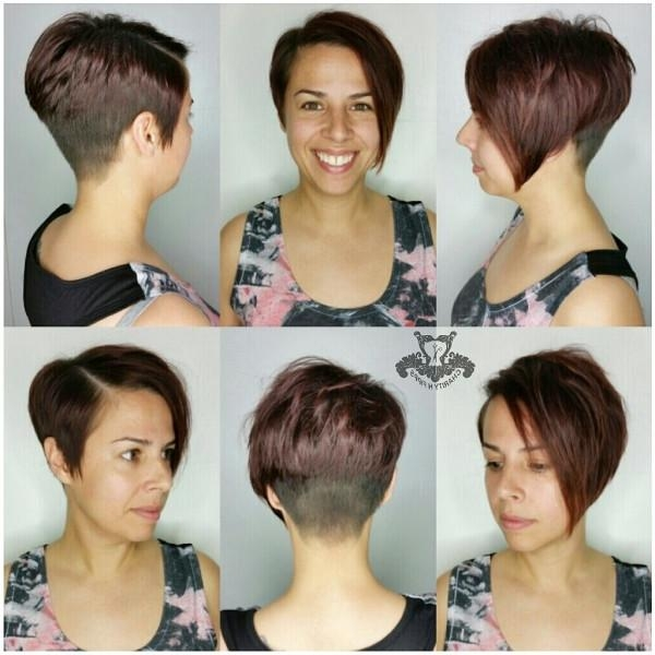 Asymmetric Stacked Pixie Haircut With Regard To Well Known Pixie Haircuts With Stacked Back (View 3 of 20)