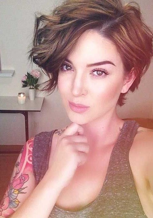 Best 25+ Pixie Haircut For Thick Hair Wavy Ideas On Pinterest For Most Recent Pixie Haircuts For Thick Wavy Hair (View 6 of 20)
