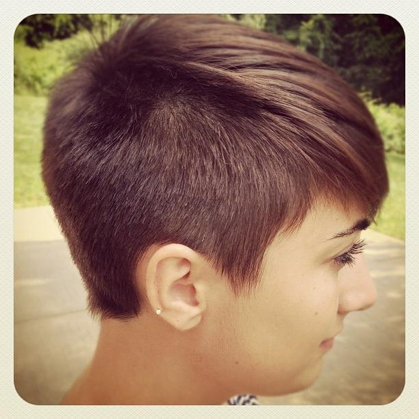 Best And Newest Buzzed Pixie Haircuts In The Pixie Revolution: Pixie Cut Pics Aug 25Th (View 8 of 20)
