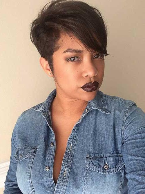 Best And Newest Pixie Haircuts For Black Hair For 20 Pixie Cut For Black Women (View 9 of 20)