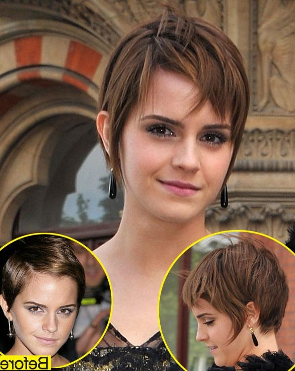 Best And Newest Reverse Pixie Haircuts Regarding Emma Watson Is Growing Out Her Pixie Cut — Do You Like The (View 6 of 20)