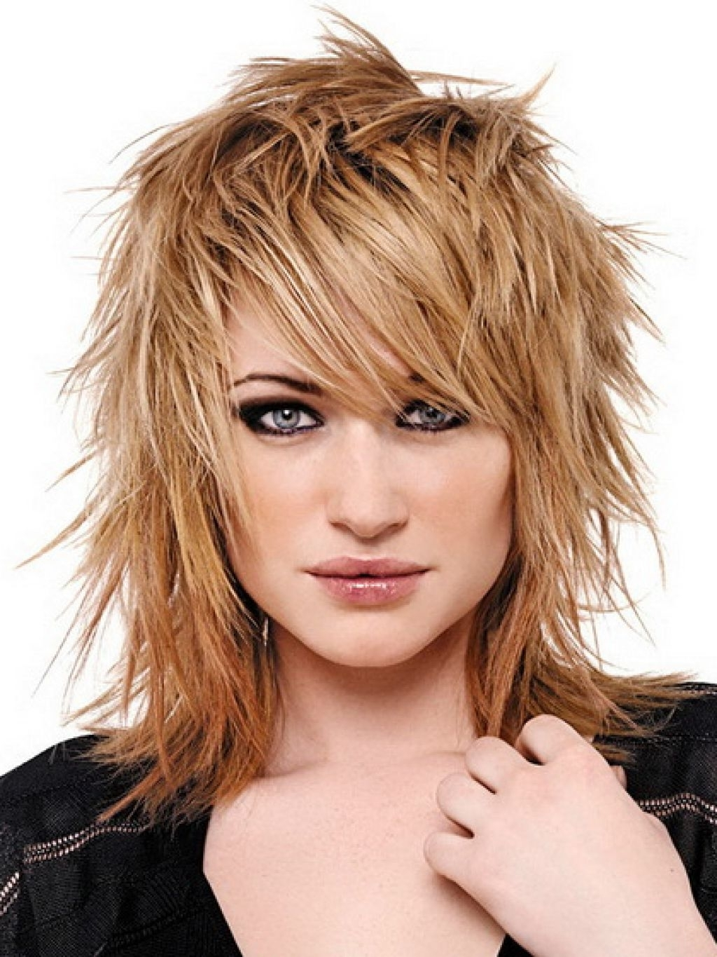 Best And Newest Shaggy Girl Hairstyles Throughout Golden Blonde Hairstyles For Medium Length Hair  (View 3 of 15)