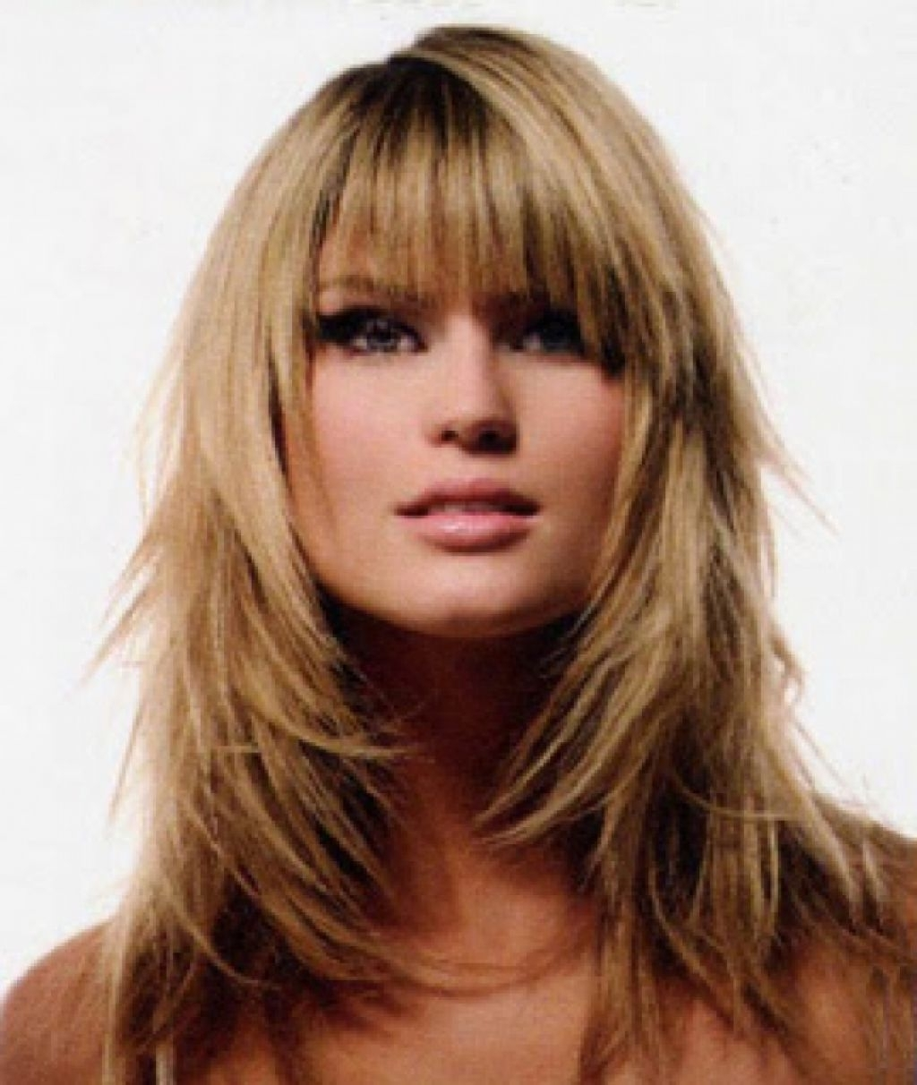 Best Long Shag Haircuts Ideas With Bangs For Straight Hair Modern With Regard To Trendy Shaggy Long Haircuts With Bangs (View 5 of 15)