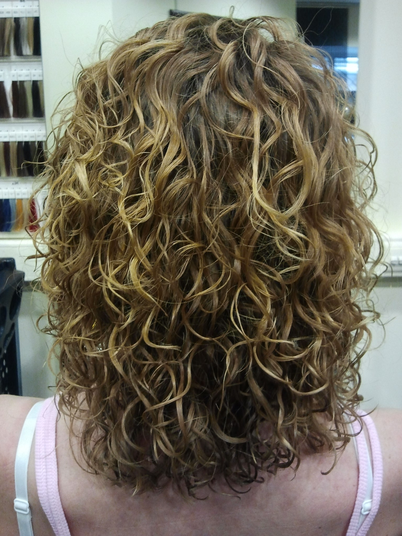 Big Curls, Highlights, Medium Length (View 4 of 15)