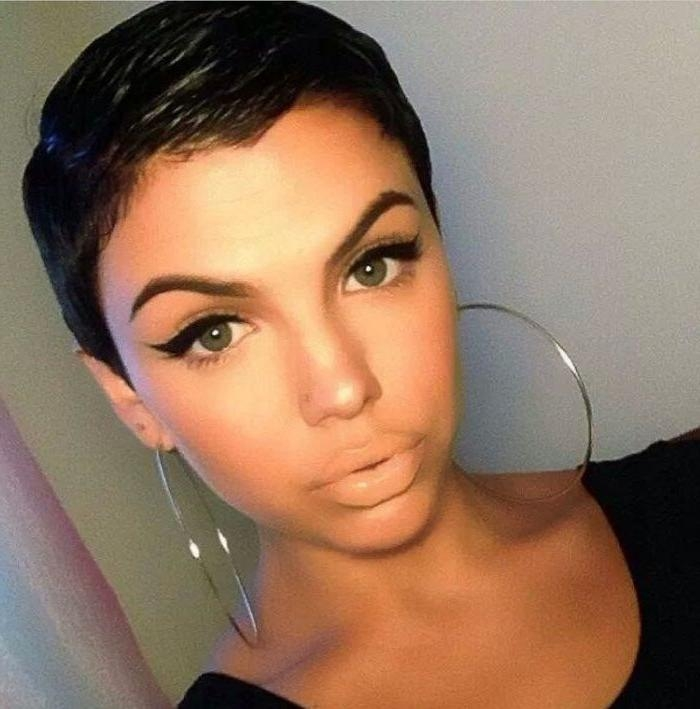 Black Pixie Cut (View 8 of 20)