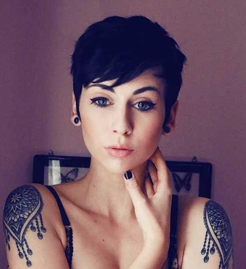 Current Hot Pixie Haircuts Intended For Best 25+ Pixie Cut With Bangs Ideas On Pinterest (View 5 of 20)