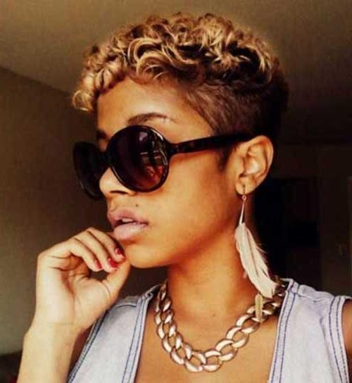 Current Pixie Haircuts For Black Women Pertaining To 5 Cute Curly Pixie Haircuts For Black Women (View 7 of 20)