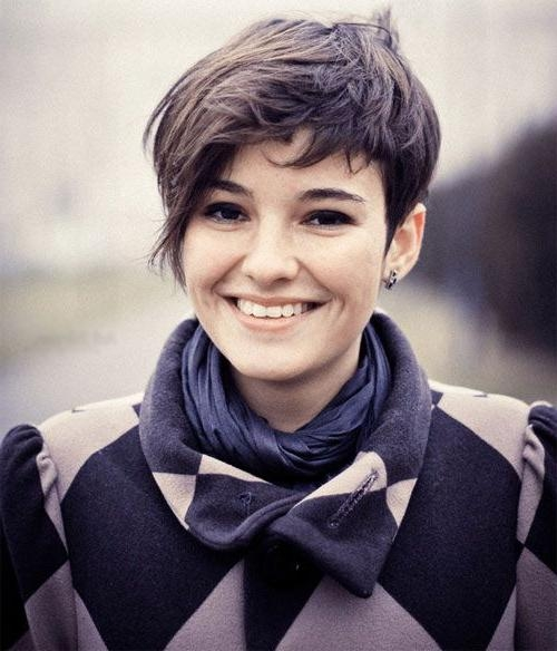 Current Pixie Haircuts For Round Faces Intended For Best 25+ Pixie Cut Round Face Ideas On Pinterest (View 11 of 20)