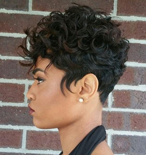 Current Pixie Haircuts With Curly Hair Regarding 20 Lovely Wavy & Curly Pixie Styles: Short Hair – Popular Haircuts (View 9 of 20)
