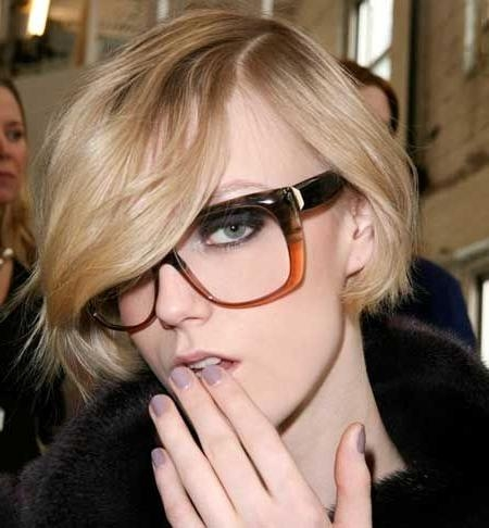 Current Pixie Haircuts With Glasses Within The Best Short Hairstyles To Wear With Glasses – Hair World Magazine (View 17 of 20)