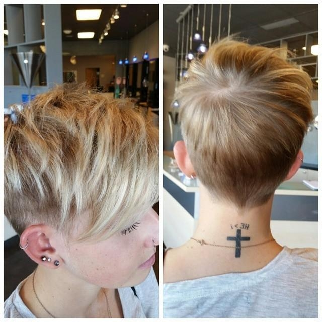 Current Pixie Haircuts With Shaved Sides Throughout Adorable Short Layered Pixie Haircut – Hairstyles Weekly (View 8 of 20)