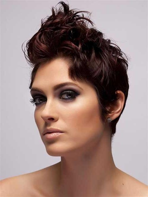 Famous Curly Short Pixie Haircuts Within Short Curly Pixie Haircuts (View 8 of 20)