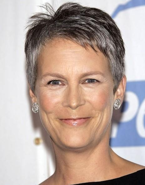 Famous Jamie Lee Curtis Pixie Haircuts In Sporty Pixie With Silver Highlights For Women Over 50 – Jamie Lee (View 5 of 20)