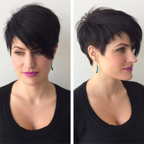 Famous Pixie Haircuts For Long Face Shape Within Haircut With Side Bangs For Long Face Shape (View 6 of 20)