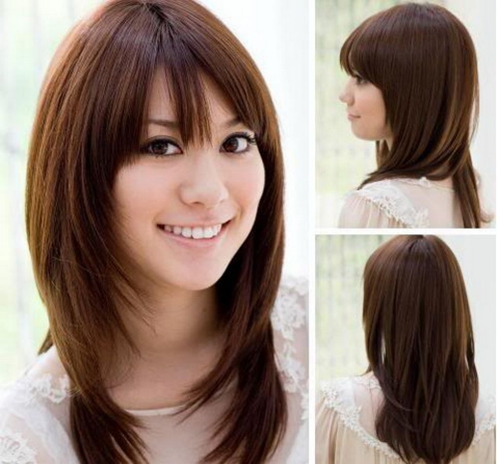 Famous Shaggy Girl Hairstyles Pertaining To Medium Length Haircut For Girls Korean Shaggy Layered Haircut (View 4 of 15)