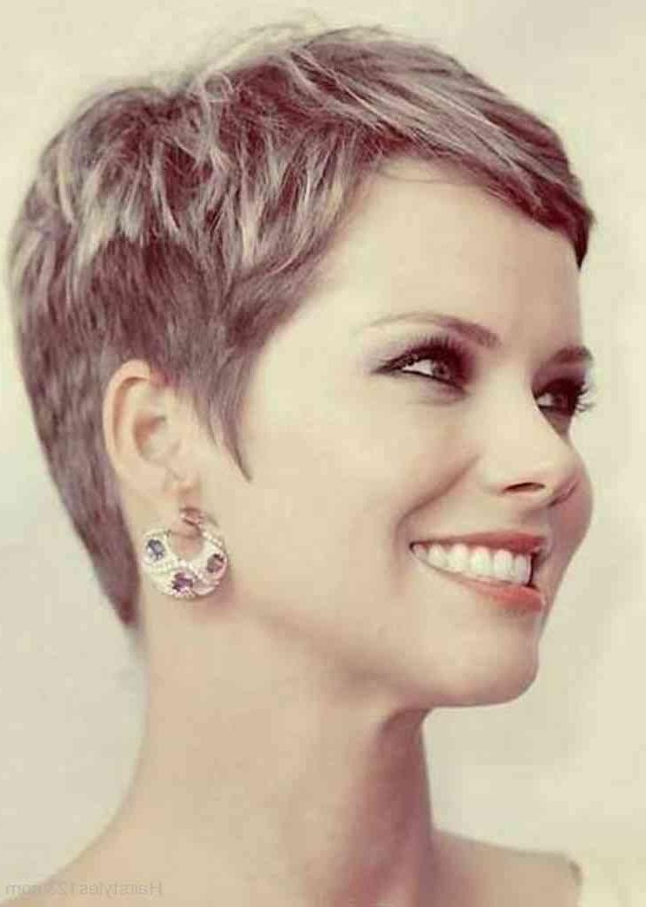 Famous Short Layered Pixie Haircuts Intended For Pixie Hairstyles Short Layered Pixie Cut Hairstyles (View 15 of 20)