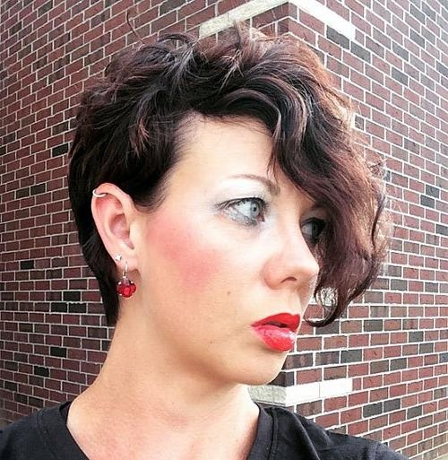 Famous Wavy Pixie Haircuts Inside 20 Standout Curly And Wavy Pixie Cuts – Page 15 – Foliver Blog (View 8 of 20)