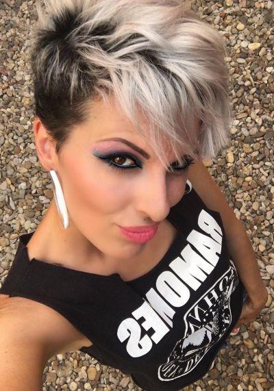Fashionable Punk Rock Pixie Haircuts Throughout Pixie Haircut Grey Hair (View 10 of 20)