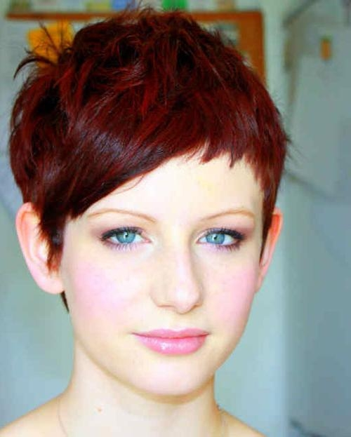 Fashionable Red Pixie Haircuts In Pixie Hairstyles For Short Hair – Short Hairstyles  (View 9 of 20)