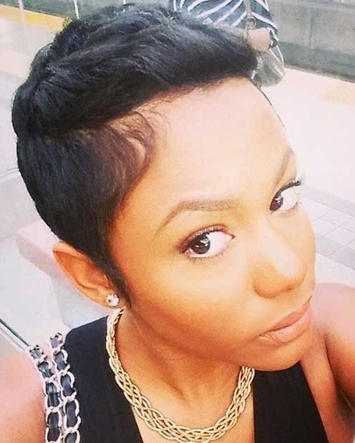 Fashionable Short Pixie Haircuts For Black Women With 20+ Pixie Hairstyles For Black Women (View 11 of 20)