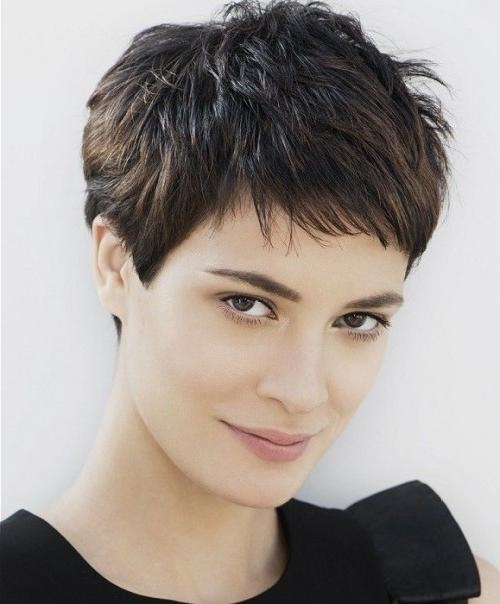 Fashionable Thick Hair Pixie Haircuts In Most Magnetizing Pixie Haircuts For Thick Hair (View 5 of 20)