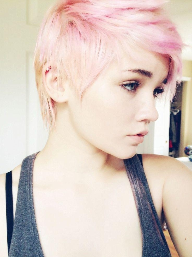 Favorite Pink Pixie Haircuts Within Pastel Pink Pixie Haircut – Hair Colors Ideas (View 19 of 20)