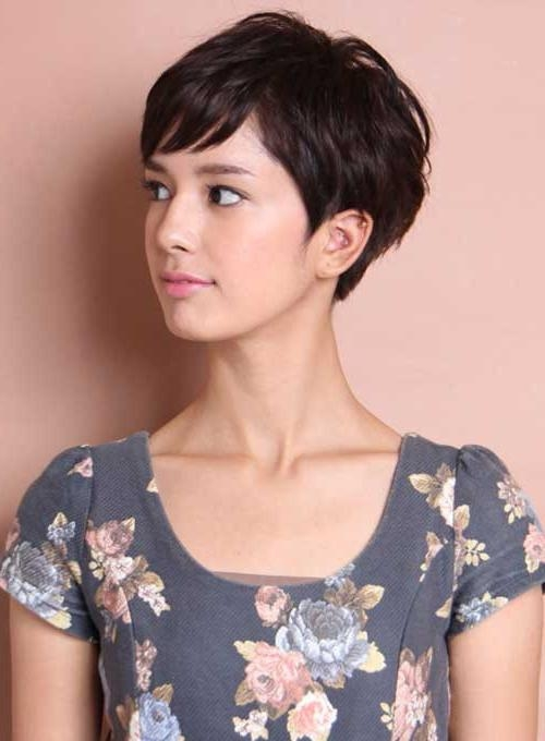 Favorite Pixie Haircuts For Asian Round Face Throughout 30 Pixie Cut Styles (View 9 of 20)