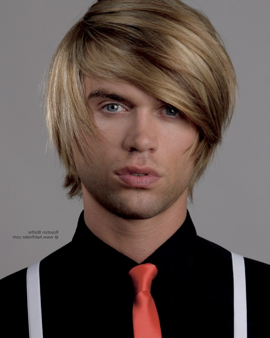 Favorite Shaggy Mop Hairstyles Pertaining To Shag Haircut In A Multi Tonal Blonde For Men (View 5 of 15)