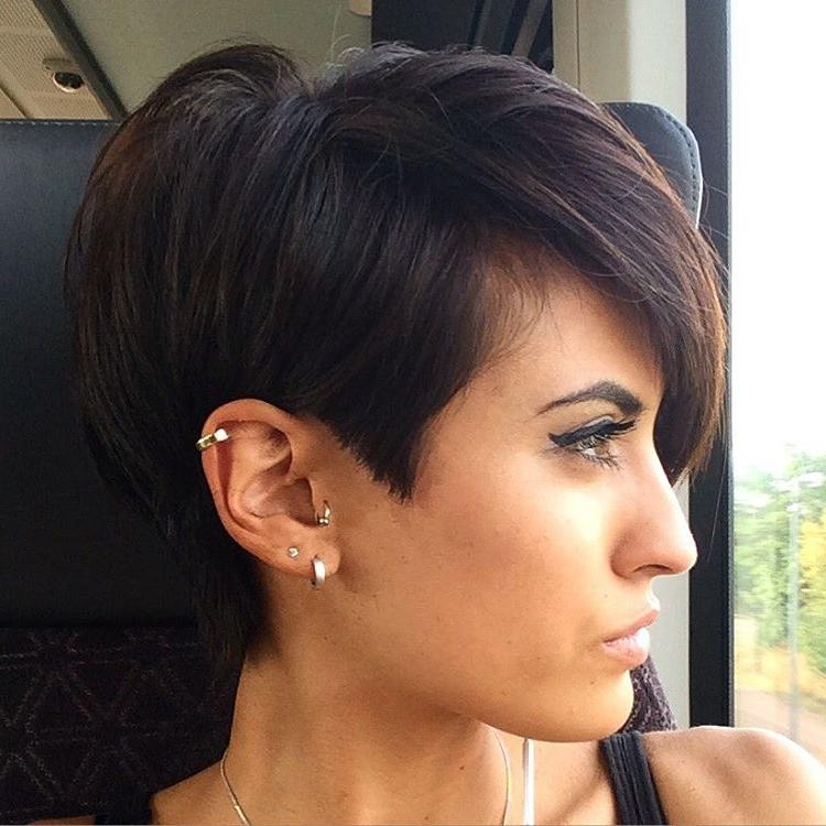 Favorite Short Bangs Pixie Haircuts Intended For Pixie Hairstyles And Haircuts In 2018 — Therighthairstyles (View 17 of 20)