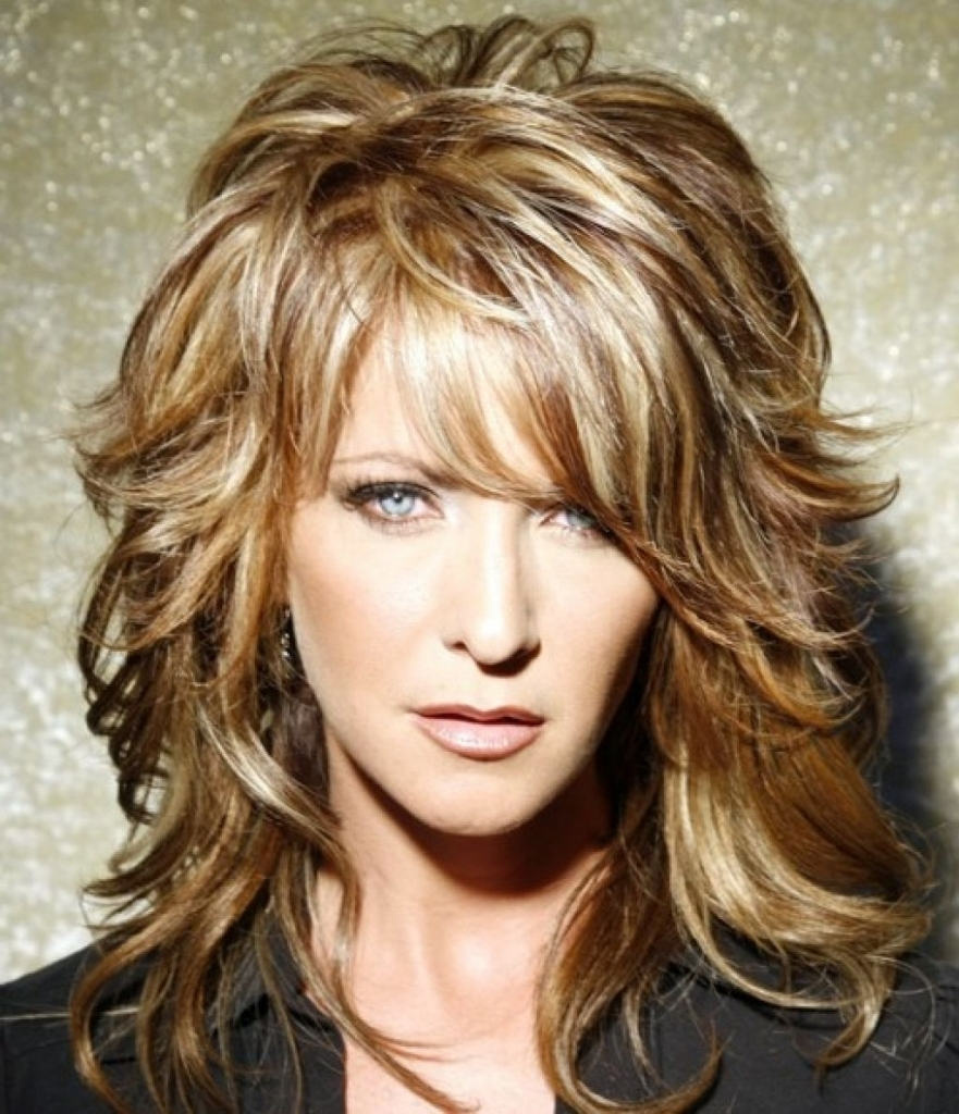 Haircuts For Thick Hair Image Of Layered Haircuts For Thick Hair Inside 2018 Shaggy Hairstyles For Thick Hair (View 11 of 15)