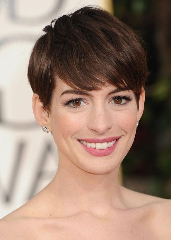 Haircuts, Hairstyles 2017 And Throughout Famous Pixie Haircuts With Bangs (View 15 of 20)