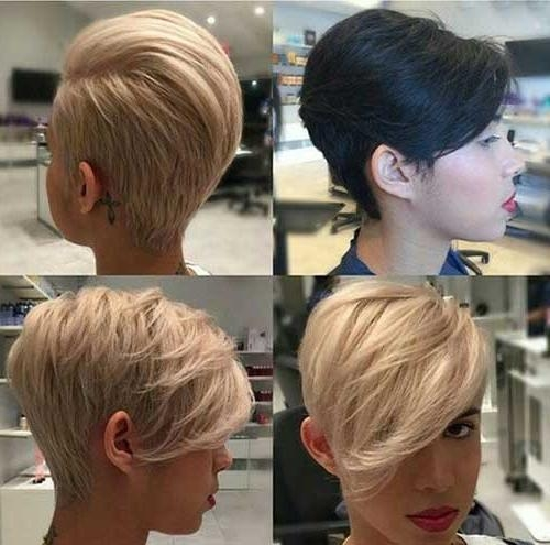 Photo Gallery Of Medium Length Pixie Haircuts Viewing 18 Of