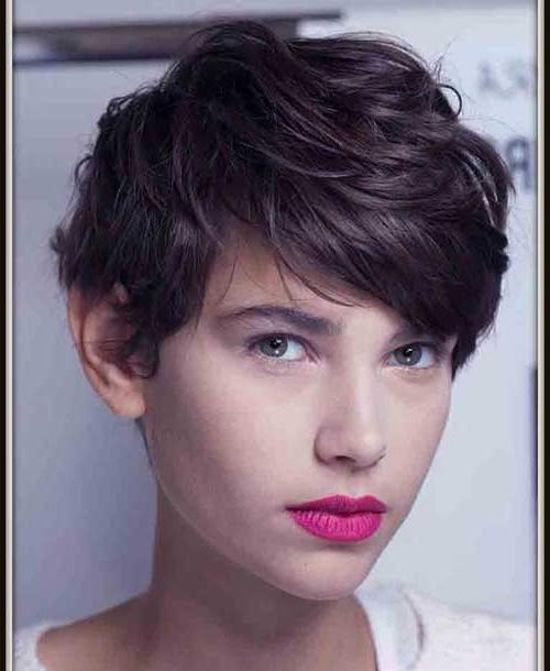 Hairstyles & Haircuts 2016 With Well Liked Thick Hair Pixie Haircuts (View 8 of 20)