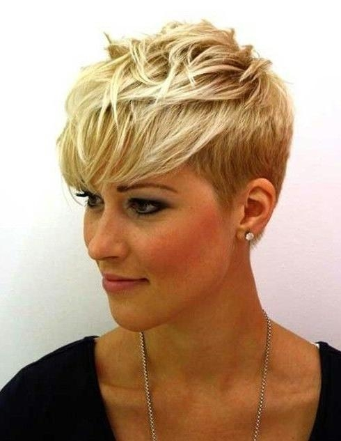 Hairstyles : Short Pixie Spiky Haircuts For Fine Hair Short Pixie In Widely Used Short Pixie Haircuts For Fine Hair (View 6 of 20)