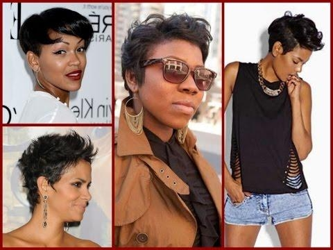 How To Styling Pixie Haircut For Black Women – Youtube Throughout Famous Pixie Haircuts For Black Girl (View 12 of 20)