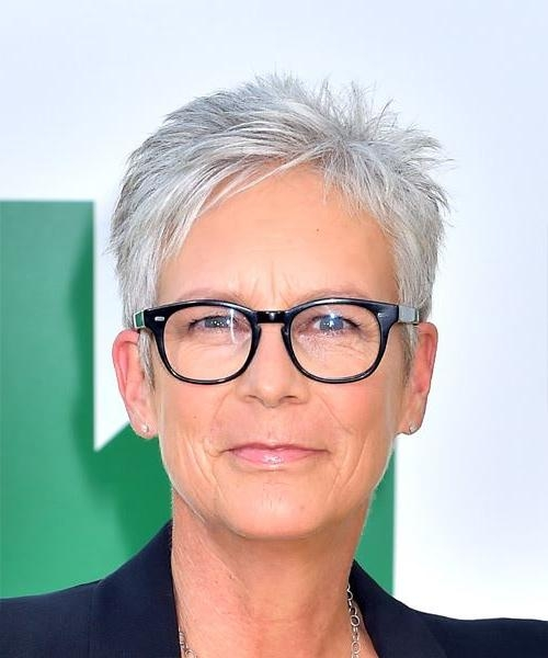 Jamie Lee Curtis Short Straight Casual Pixie Hairstyle With Throughout Latest Jamie Lee Curtis Pixie Haircuts (View 12 of 20)