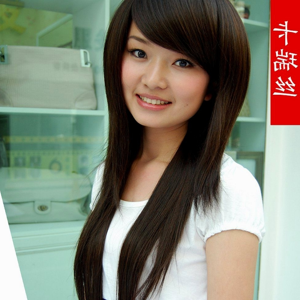 Korean Straight Hairstyles With Bangs (View 14 of 15)
