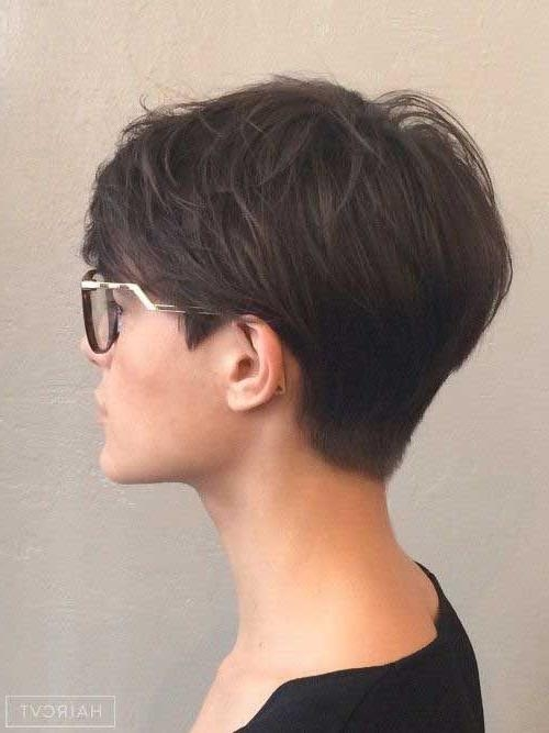 Latest Brunette Pixie Haircuts Regarding Most Beloved 20+ Pixie Haircuts (View 6 of 20)