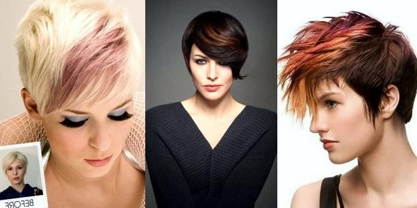 Latest Pixie Haircuts Colors Throughout Amazing Colors For Pixie Haircuts! Images And Video Tutorials! (View 13 of 20)