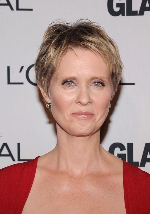Latest Pixie Haircuts For Women Over 50 With Cynthia Nixon Short Pixie Haircut For Women Over  (View 9 of 20)