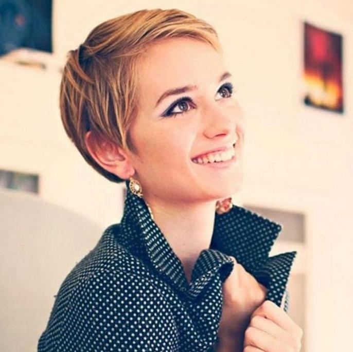 Latest Super Short Pixie Haircuts For Round Faces Within 21 Flattering Pixie Haircuts For Round Faces – Pretty Designs (View 6 of 20)