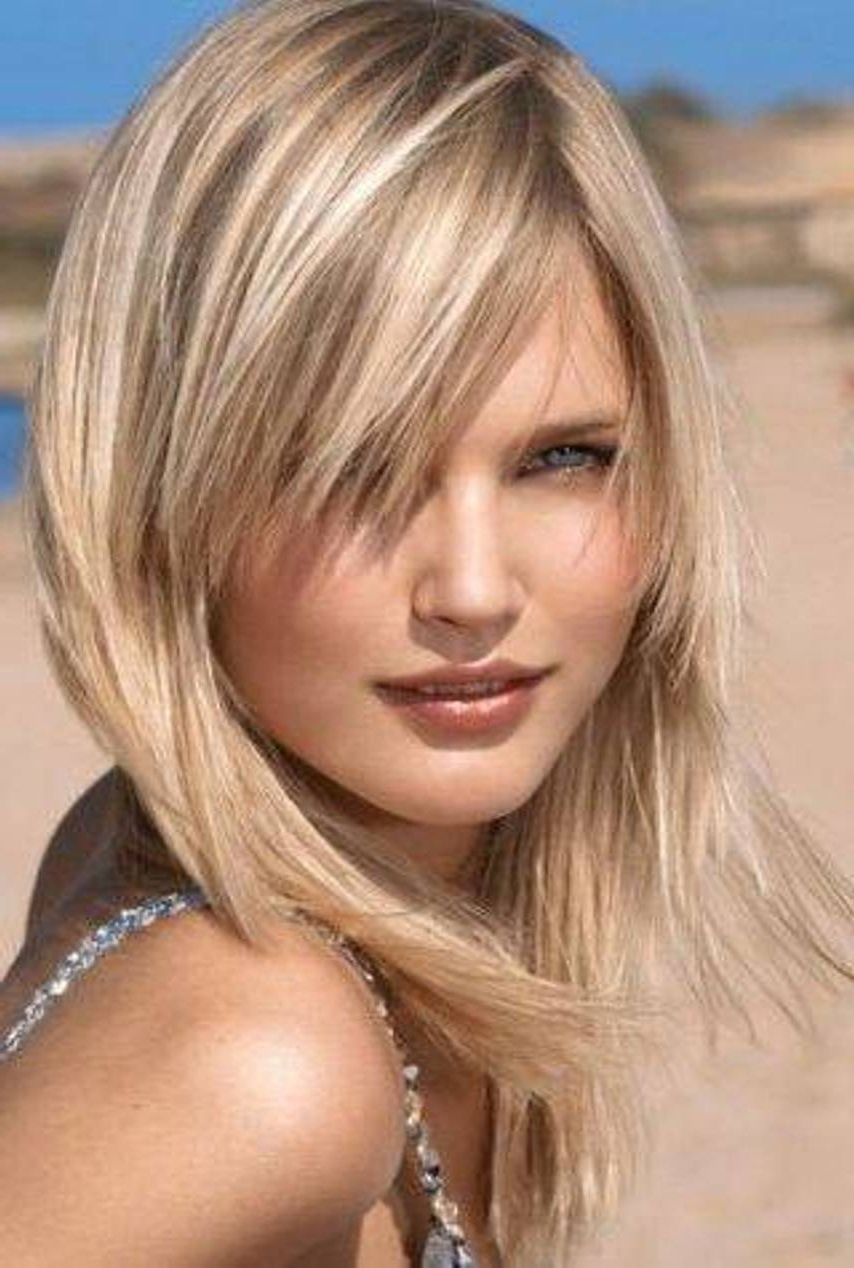 Layered Hairstyles For Fat Faces (haha For The Title), I Really Regarding Trendy Medium Shaggy Haircuts With Bangs (View 7 of 15)