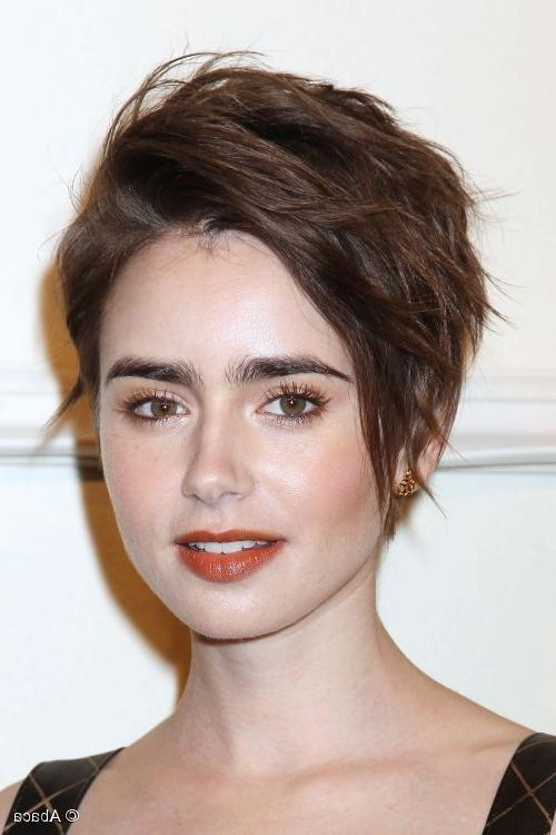 Lily Collins: How To Get Her Tousled Pixie Hairstyle! In Popular Tousled Pixie Haircuts (View 7 of 20)