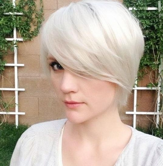 Long Pixie Hairstyle With Side Swept Bangs (View 3 of 20)