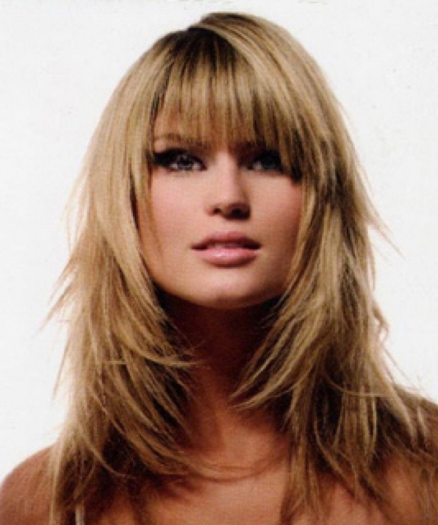 Long Shaggy Hairstyles With Bangs 1000 Images About Hairstyles On Inside Latest Shaggy Layered Hairstyles (View 5 of 15)