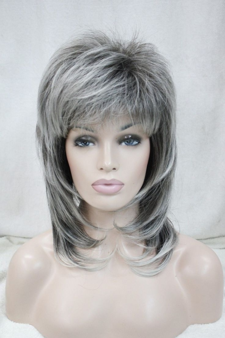 Medium Length Hairstyles For Gray Hair 1000 Images About Hair On Intended For 2017 Shaggy Hairstyles For Gray Hair (View 7 of 15)