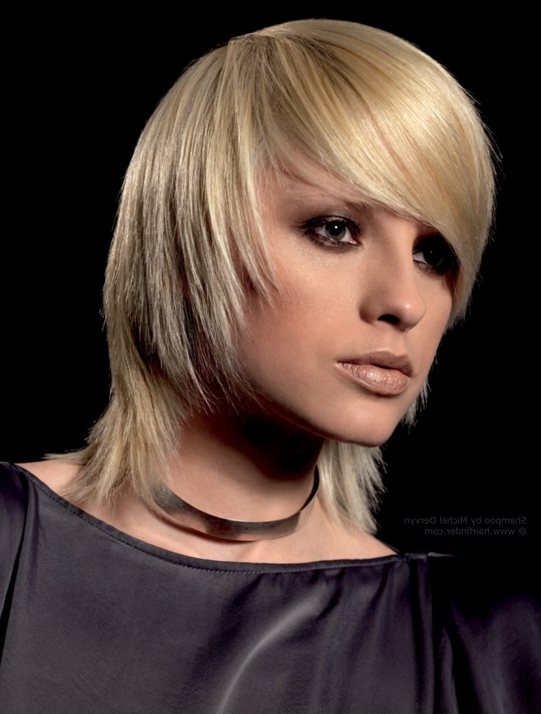 Medium Length Razored Layered Haircut Hairstyle Hairstyles Stock In Preferred Shaggy Razored Haircut (View 7 of 15)